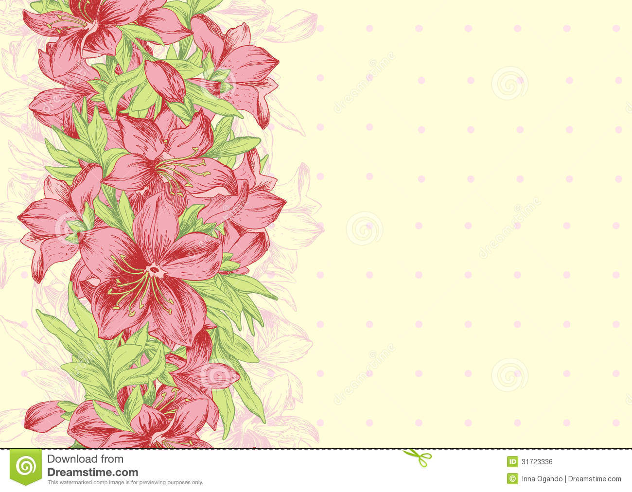 Floral background template stock vector. Image of artwork - 31723336