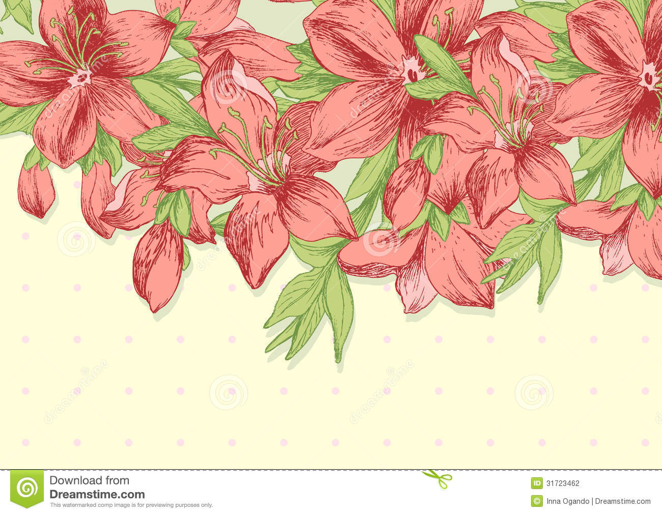 floral background template stock photography