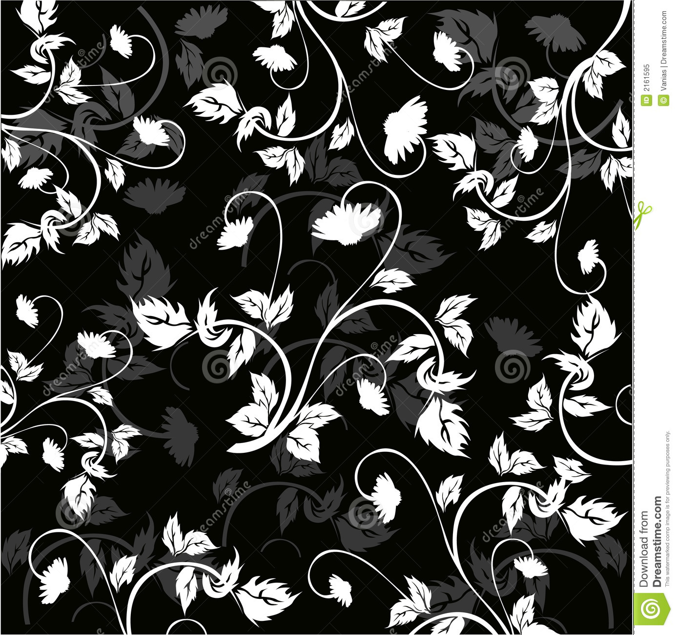 Floral Background Vector Stock Vector Illustration Of Natural  -> Floral Fundo Preto