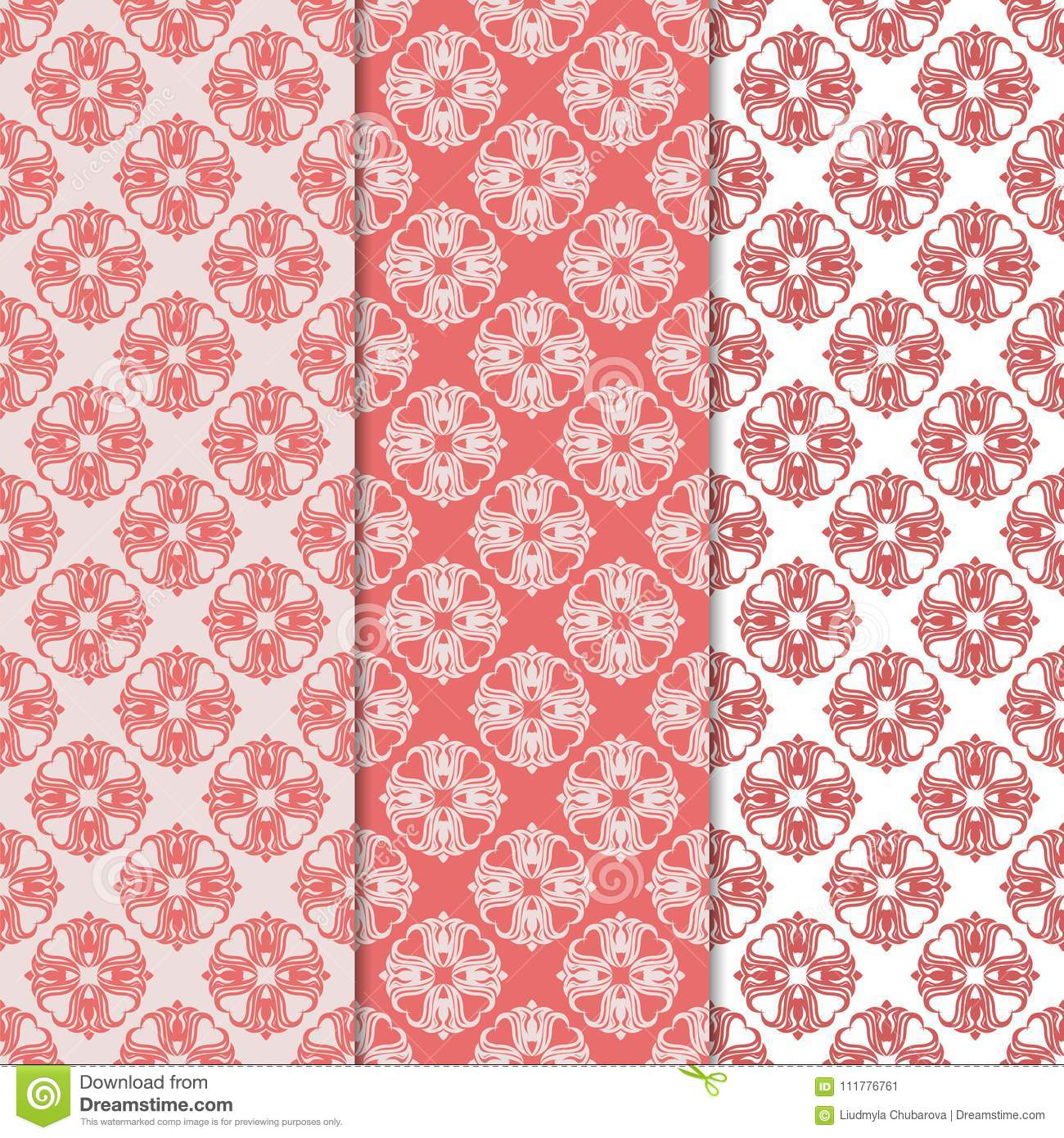 Floral backgrounds with colored seamless pattern