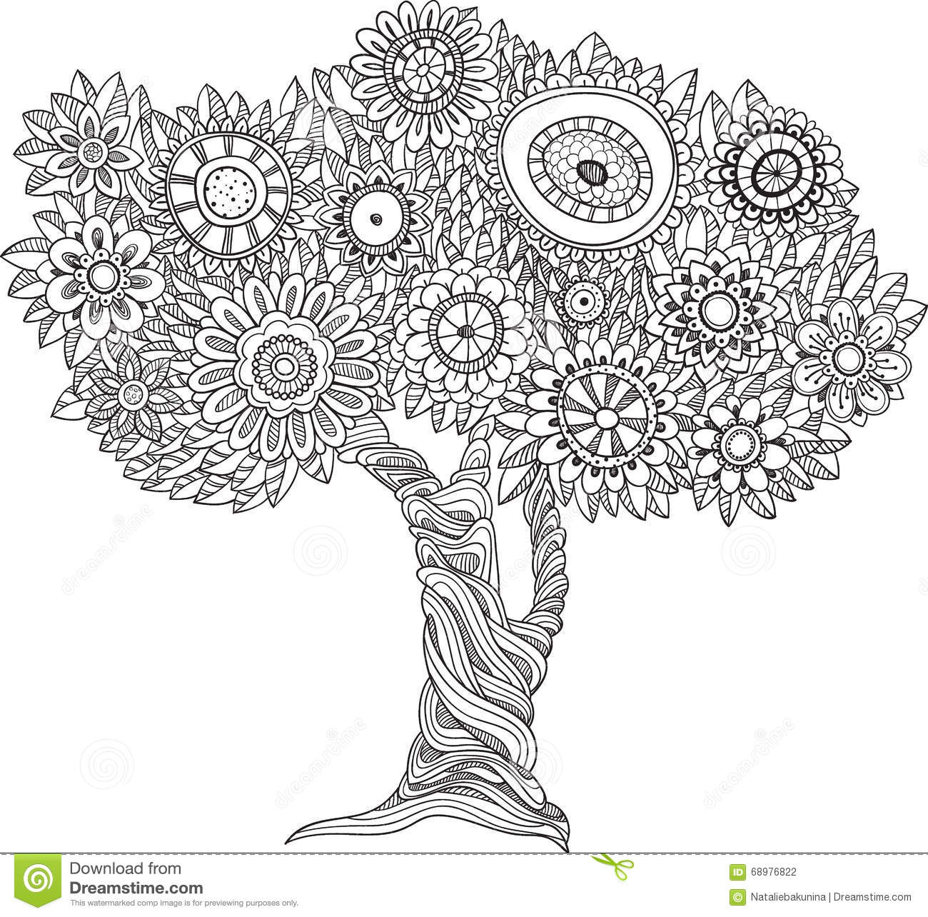 abstract trees coloring pages - photo#43
