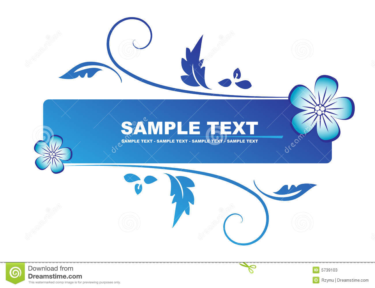 Floral Blue Banner Stock Photos Image 5739103