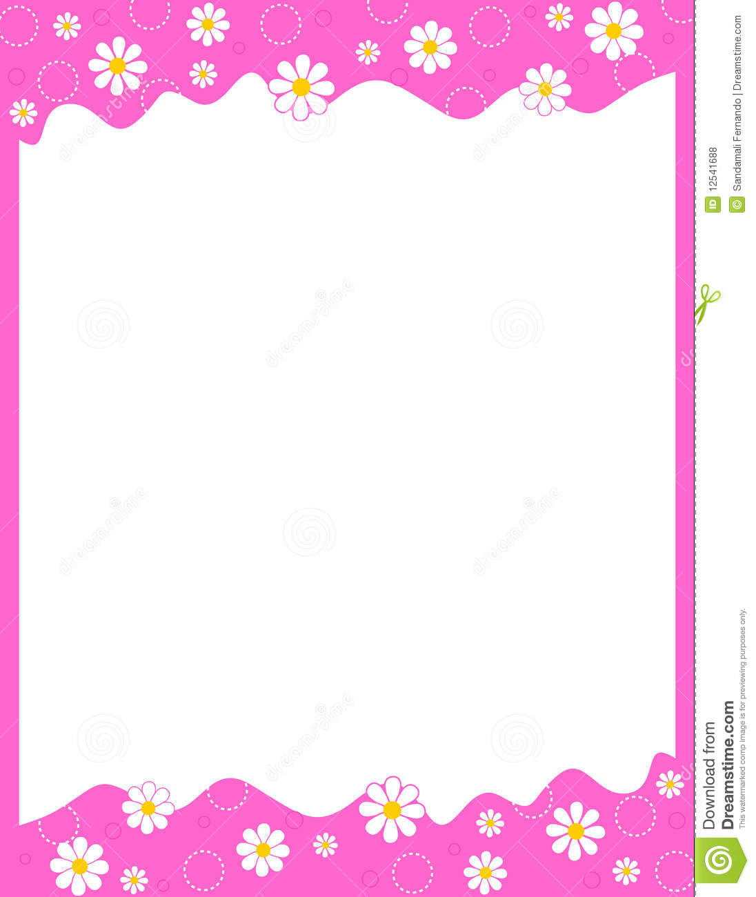 Floral Border stock vector. Illustration of cute, elegant ...