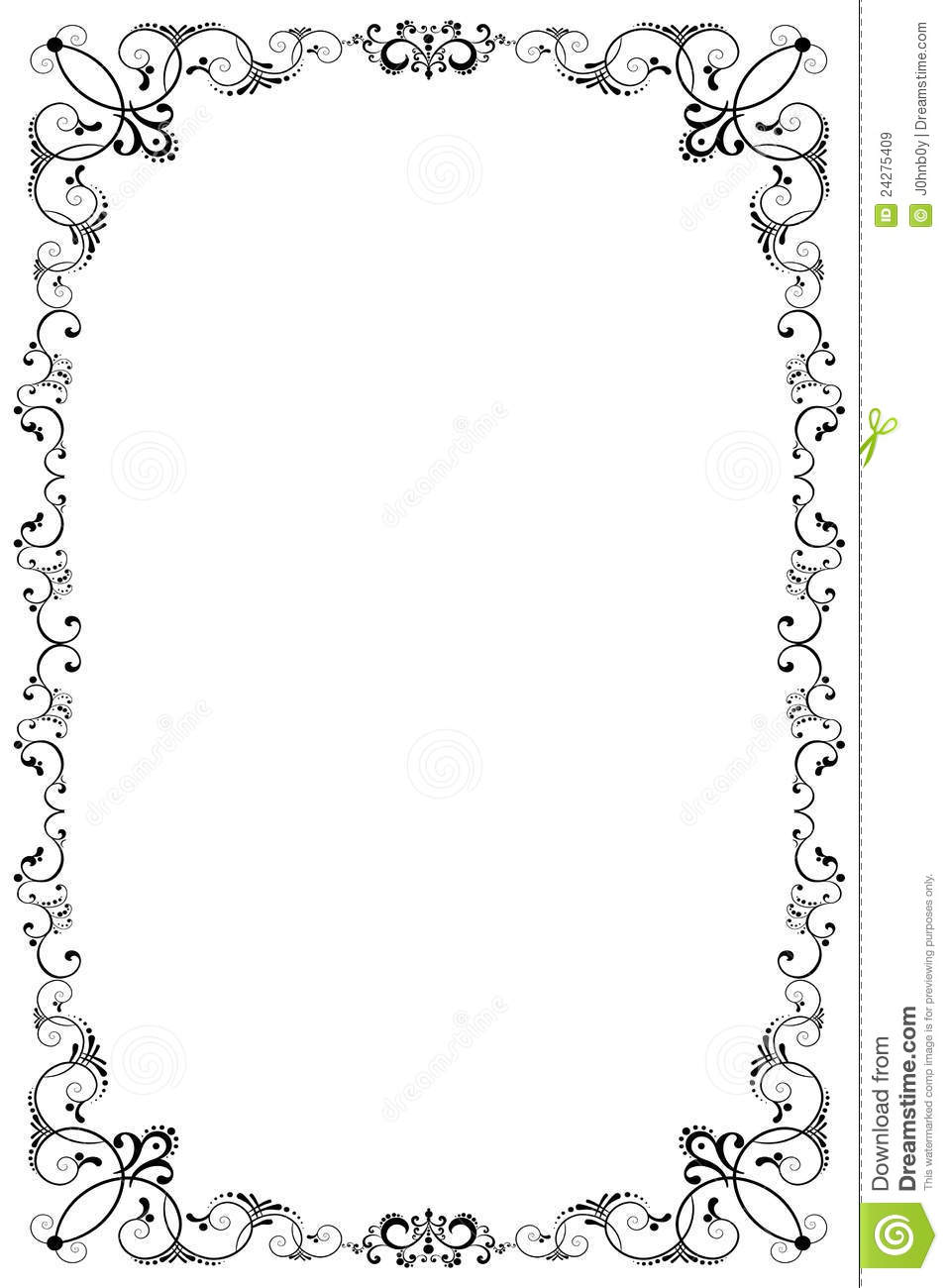 Floral Border Royalty Free Stock Images - Image: 24275409