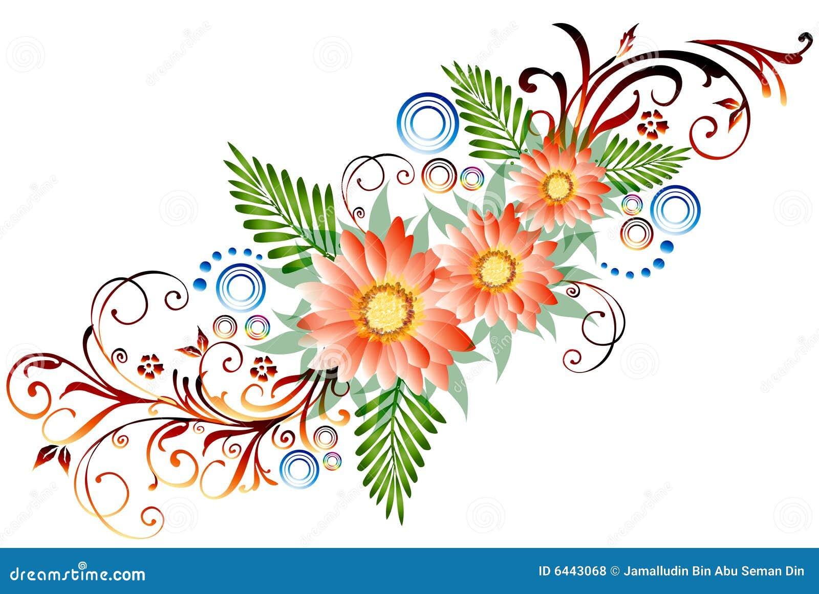 Floral Border Royalty Free Stock Photos Image 6443068