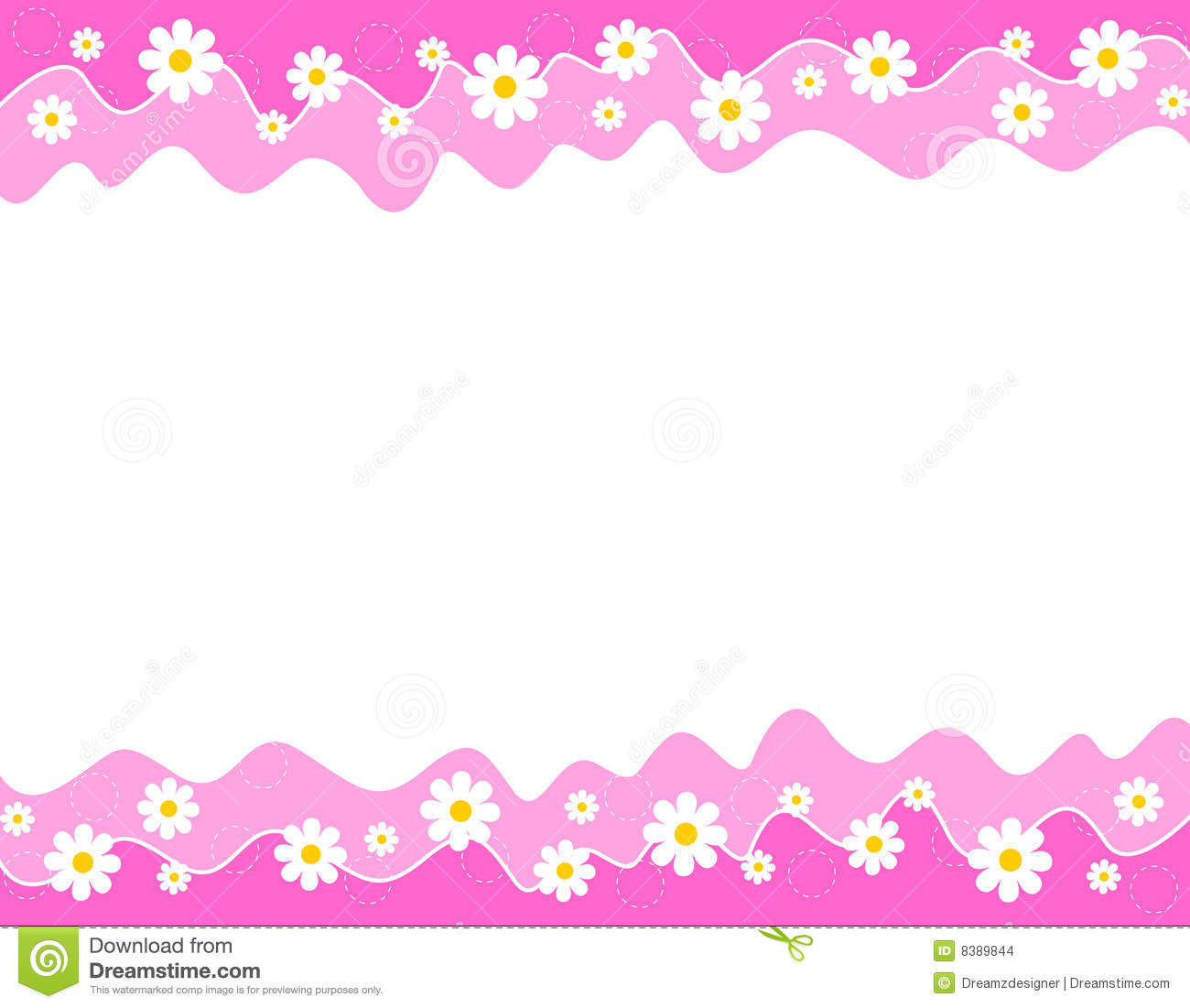Floral Border Stock Images Image 8389844