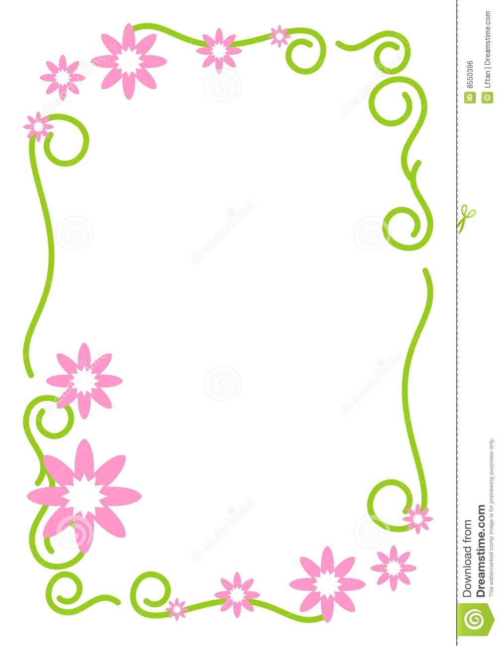 floral border royalty free stock image image 8550396