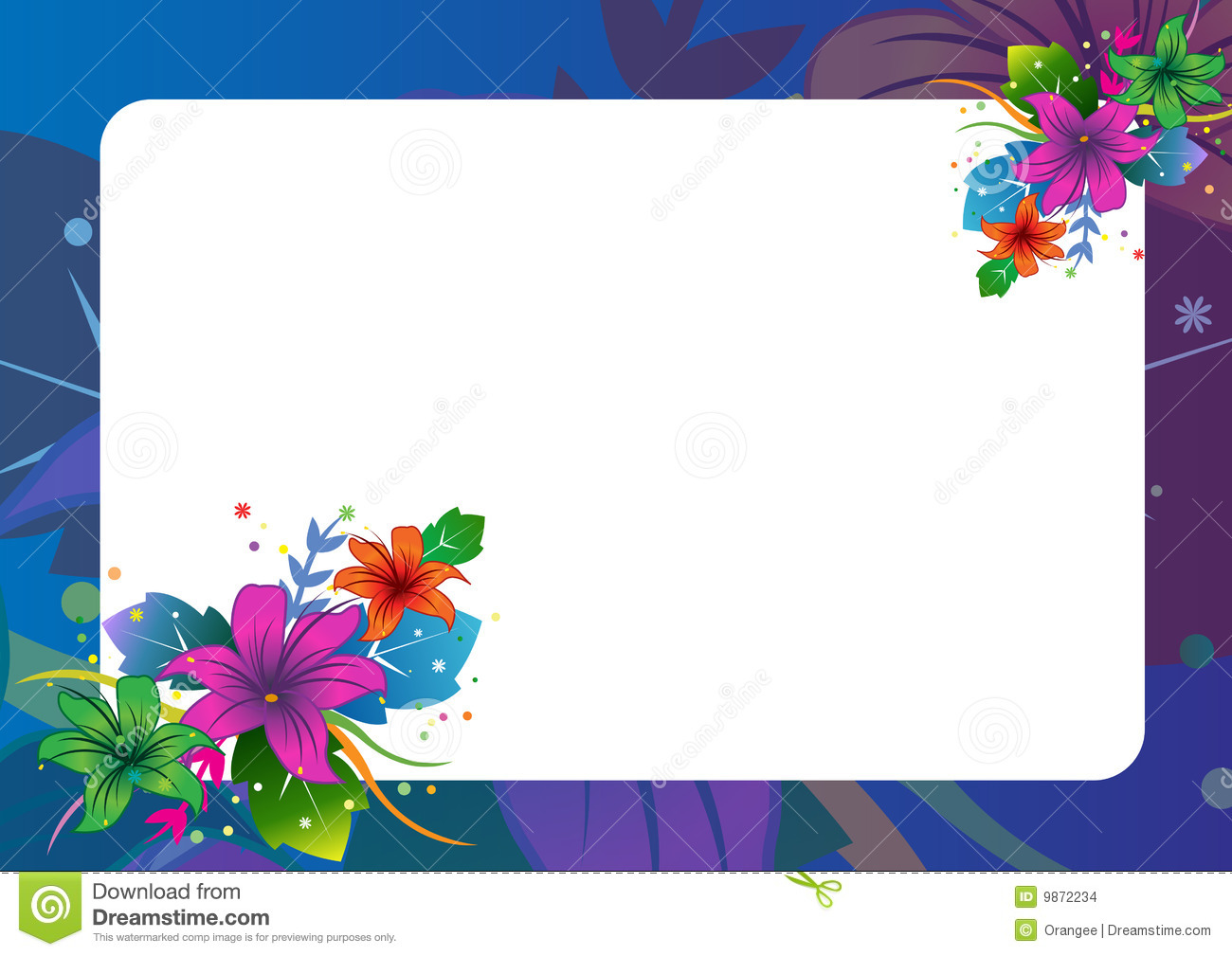 Floral Border Stock Images Image 9872234