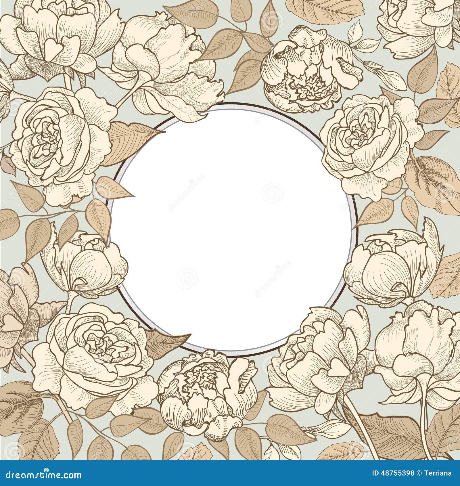 Floral border background. Decorative flower pattern.