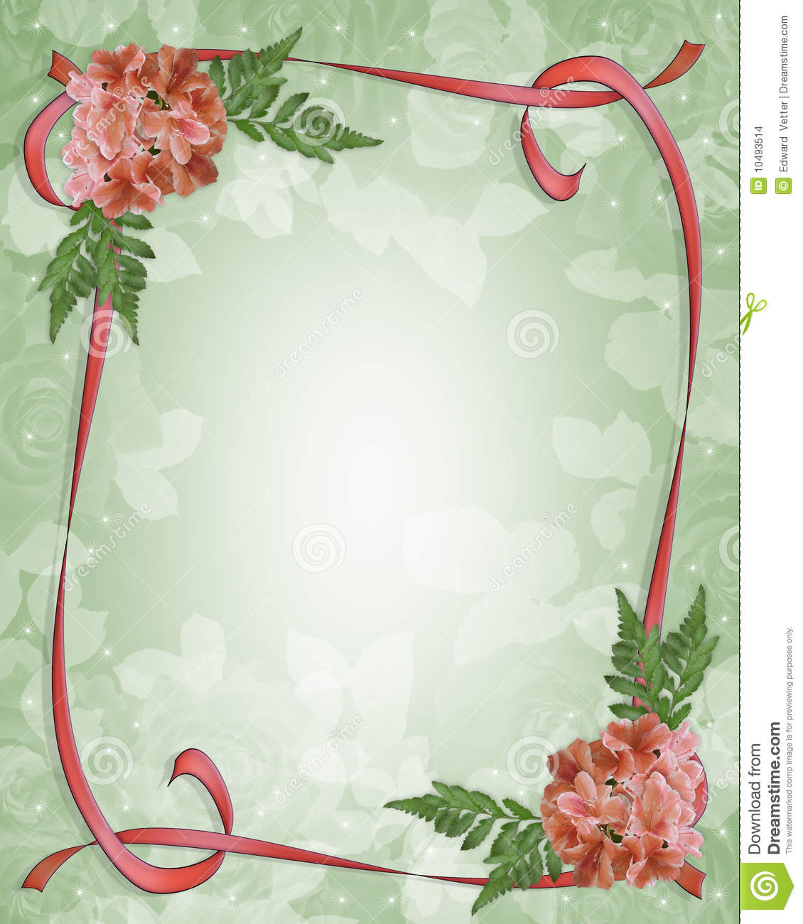 Floral Border Design Azaleas Stock Illustration