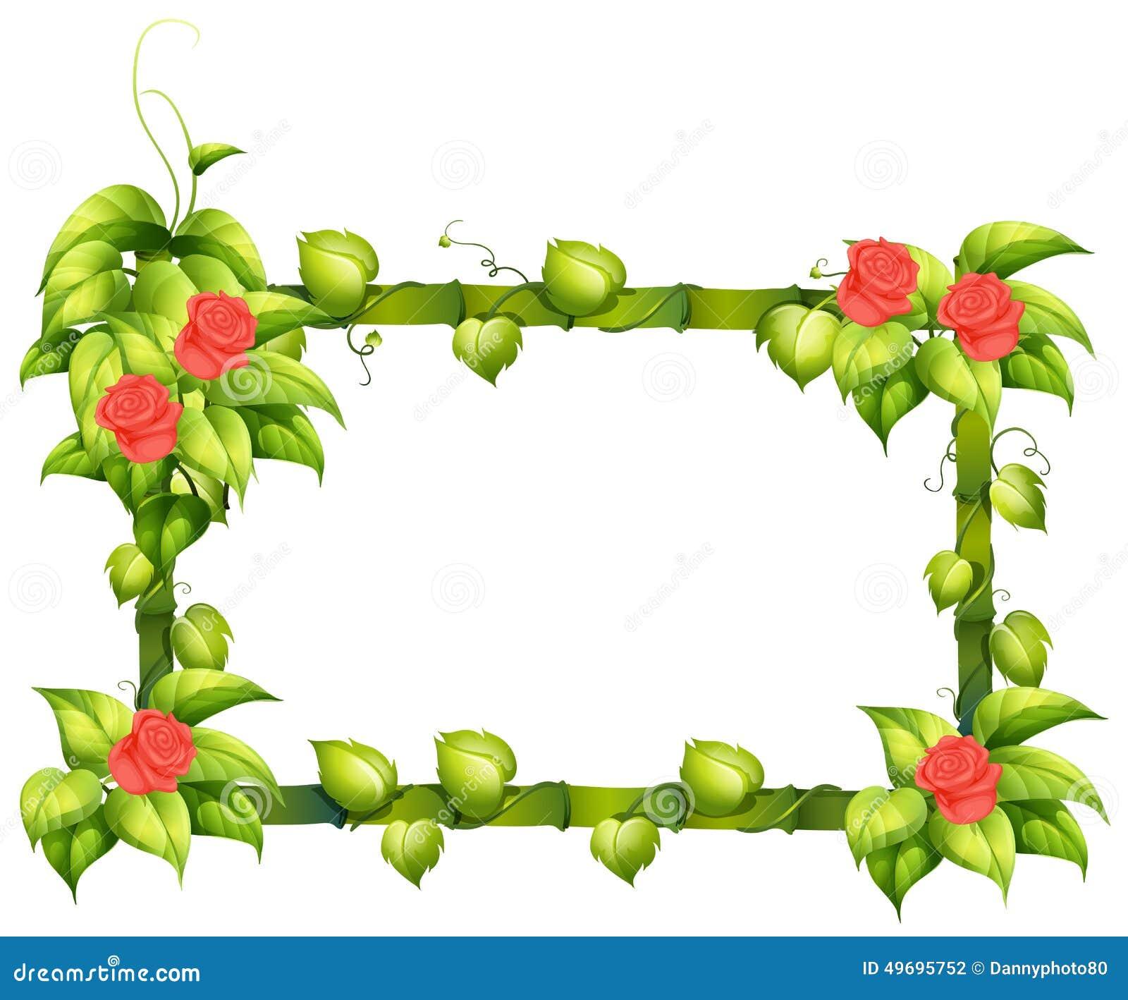 a floral border design stock vector illustration of artwork 49695752