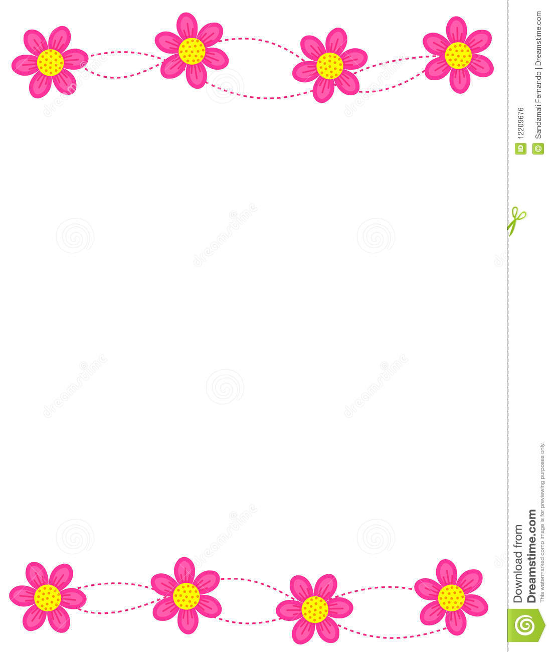 Floral Border Frame Stock Vector Image Of Decorative