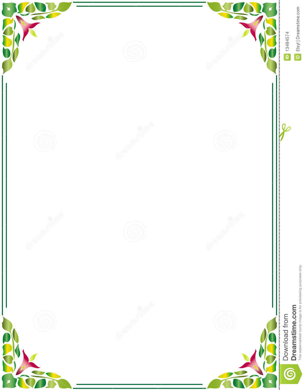 Floral Border Frame Stock Vector Image Of Dirty