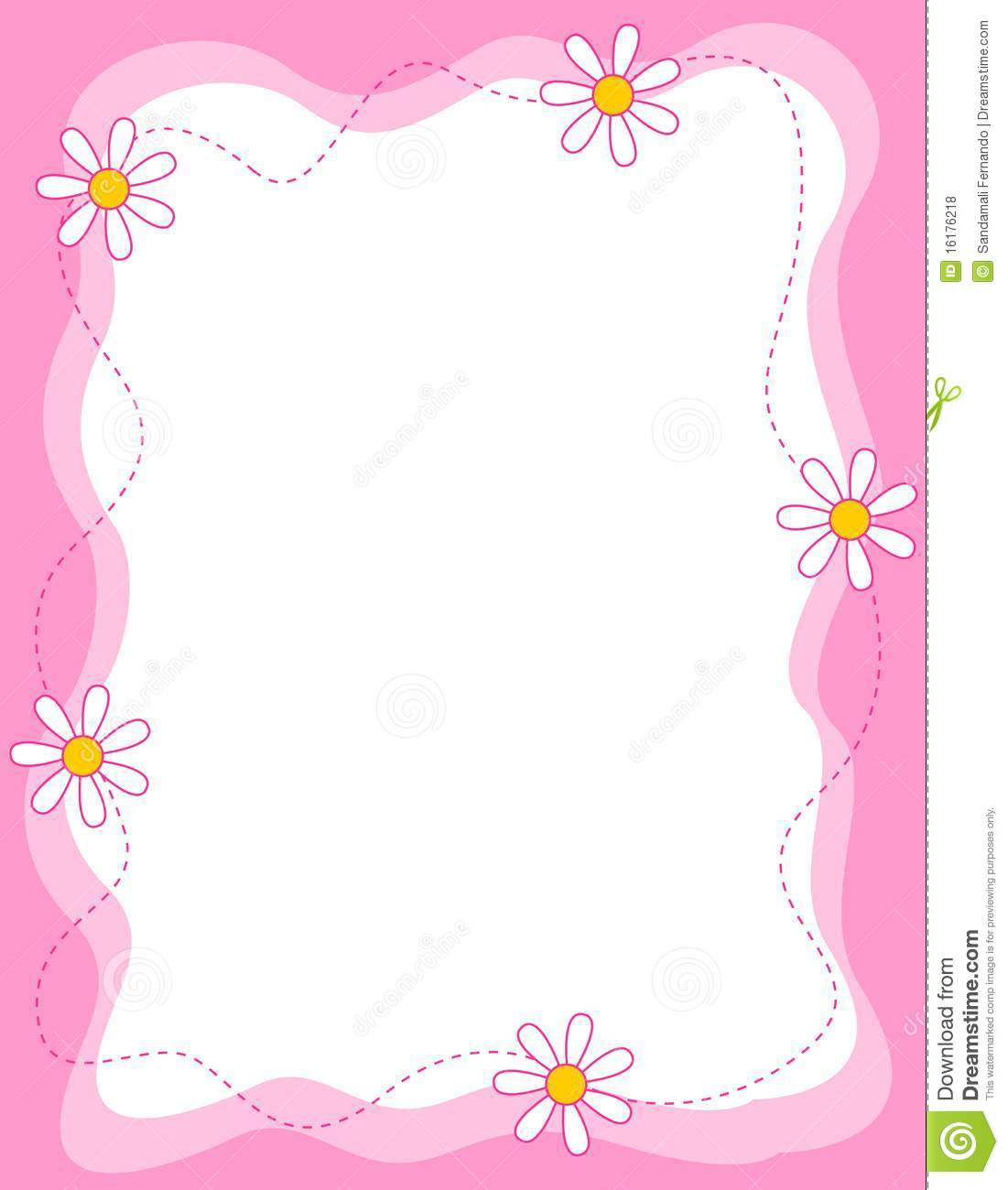 floral border frame stock vector illustration of daisies 16176218