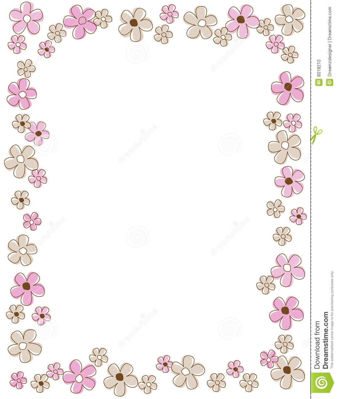 Floral Border Frame Stock Photo Image 8018210