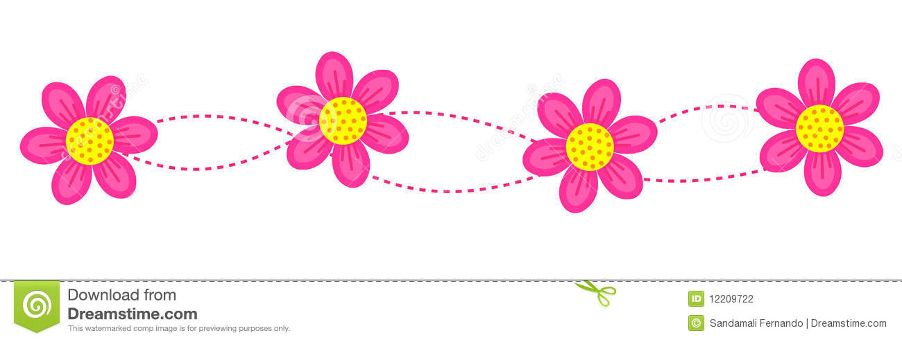 Floral Border Frame Divider Stock Vector Illustration Of