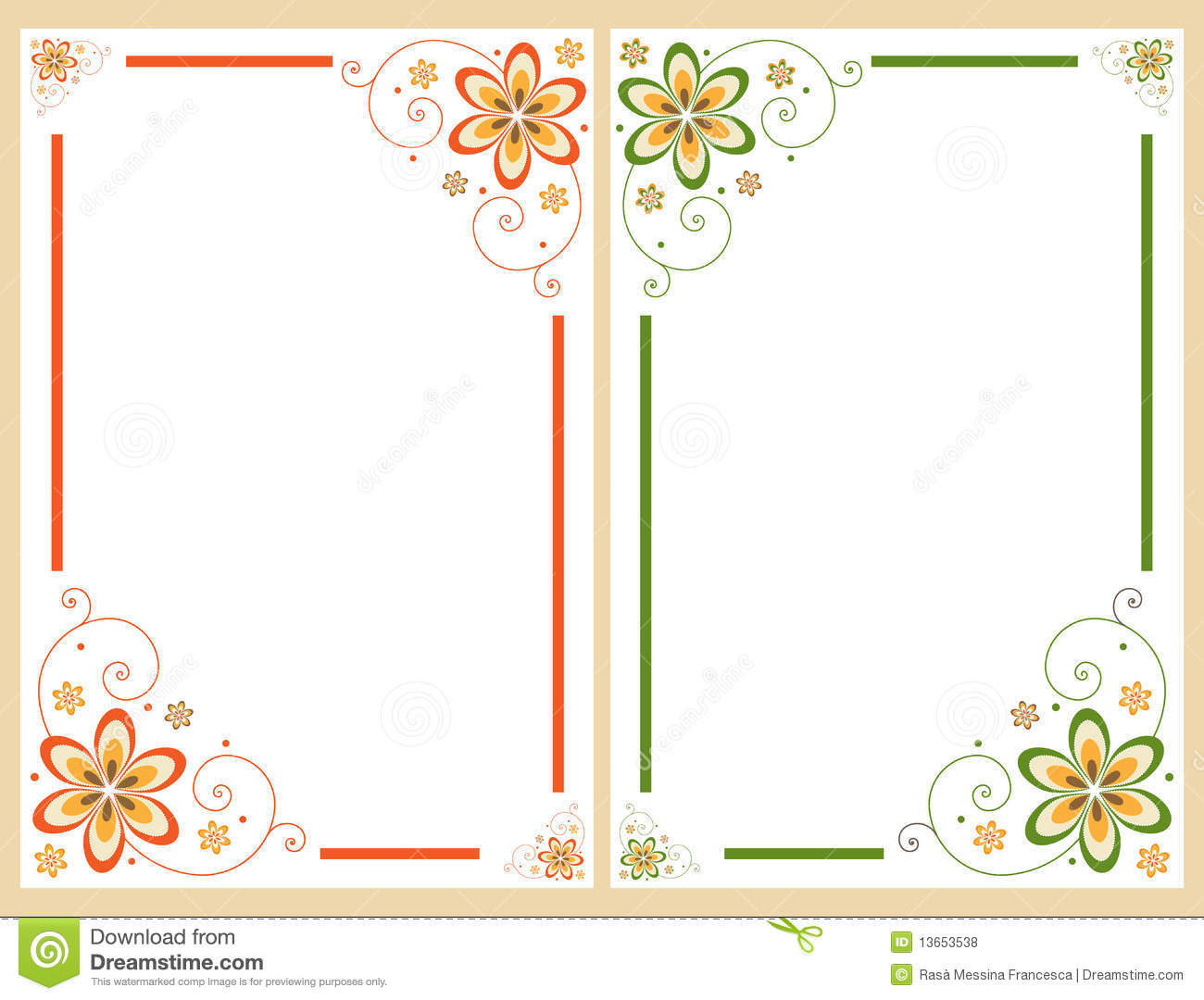 Floral border frame set stock vector. Illustration of decorate ...