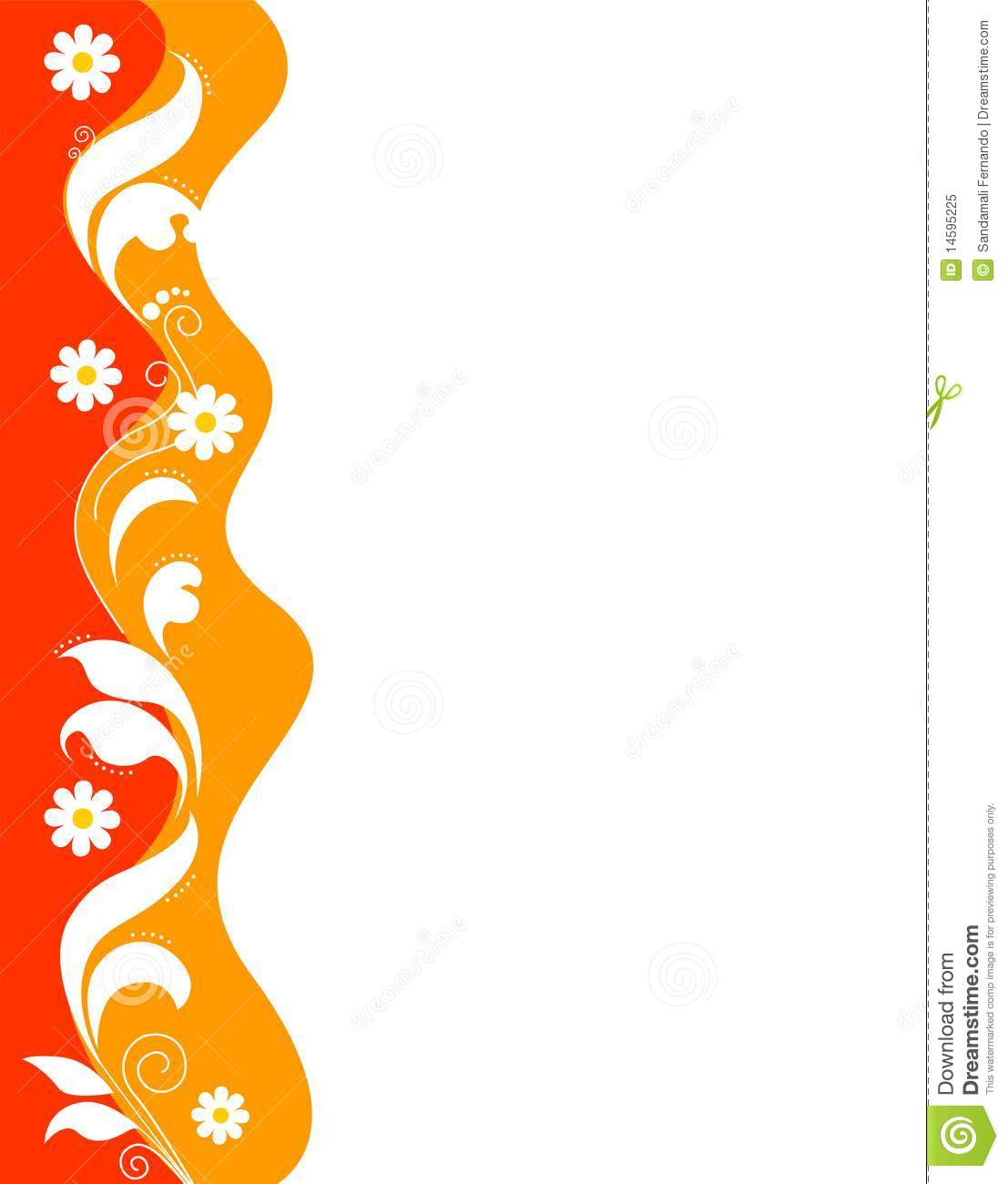 floral border red stock vector illustration of artistic 14595225