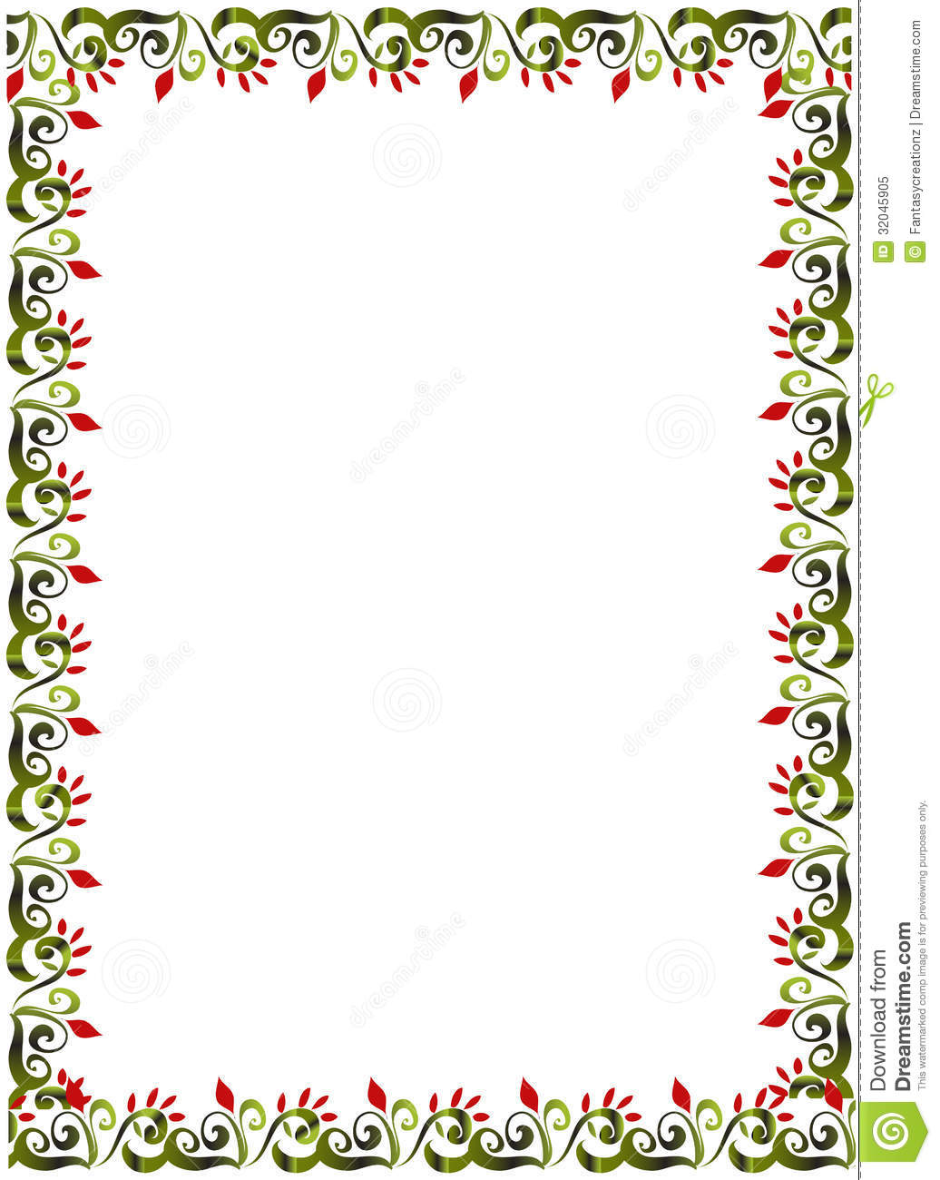 floral border stock vector image of white vector floral