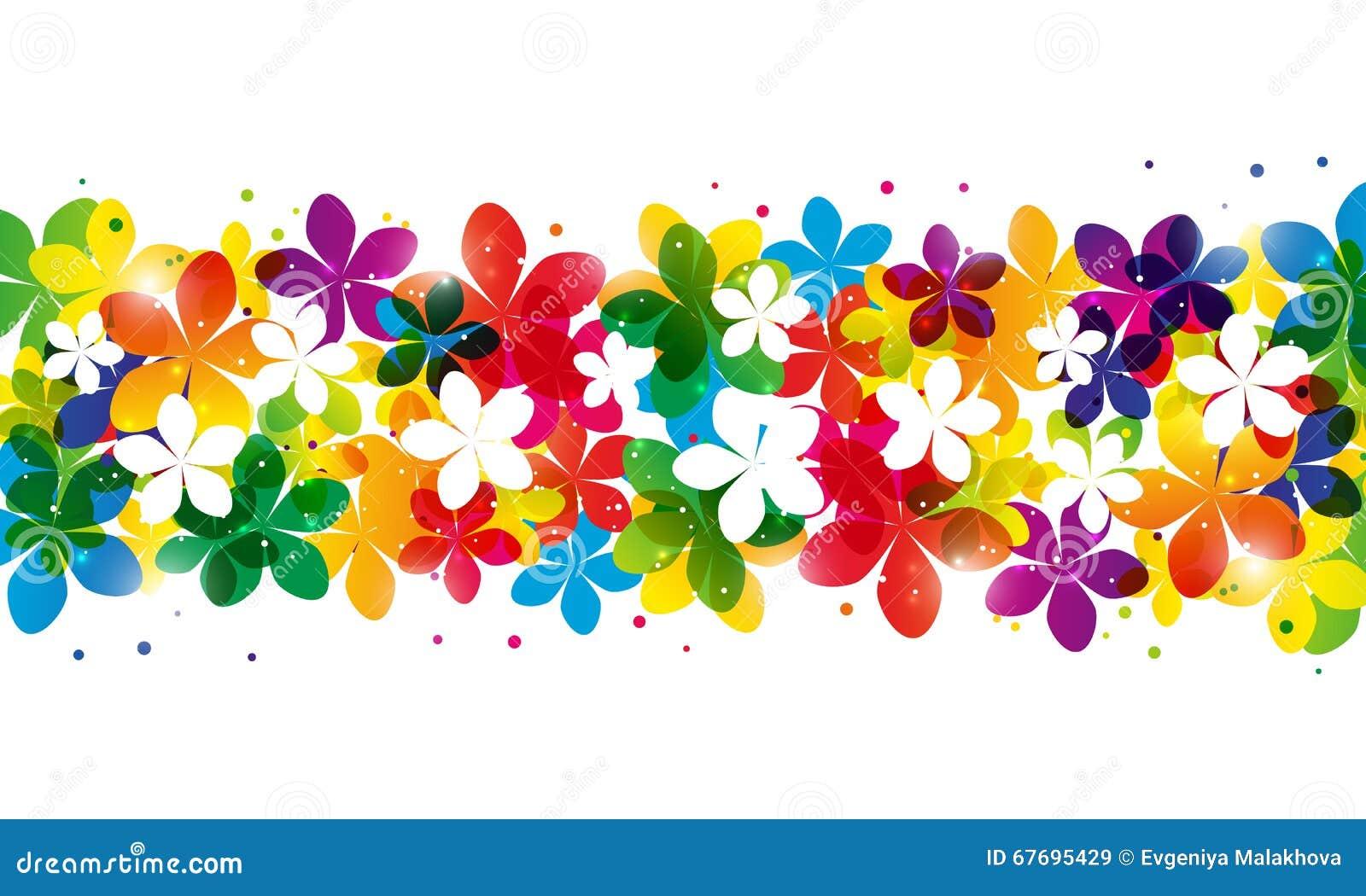 Floral Border Stock Vector Illustration Of Wallpaper 67695429