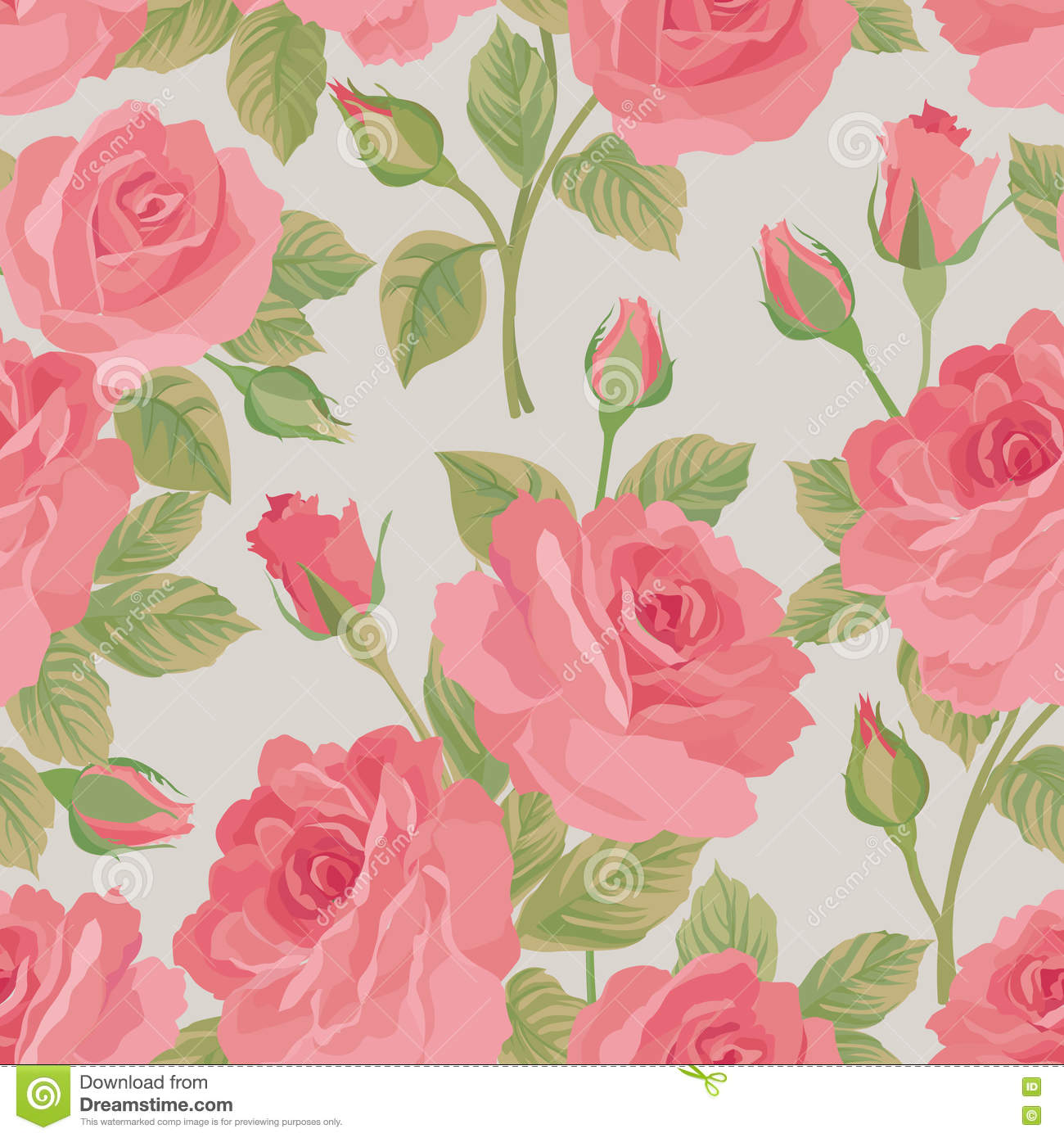 Floral bouquet seamless pattern. Flower posy background. Ornamental texture with flowers roses. Flourish tiled wallpaper