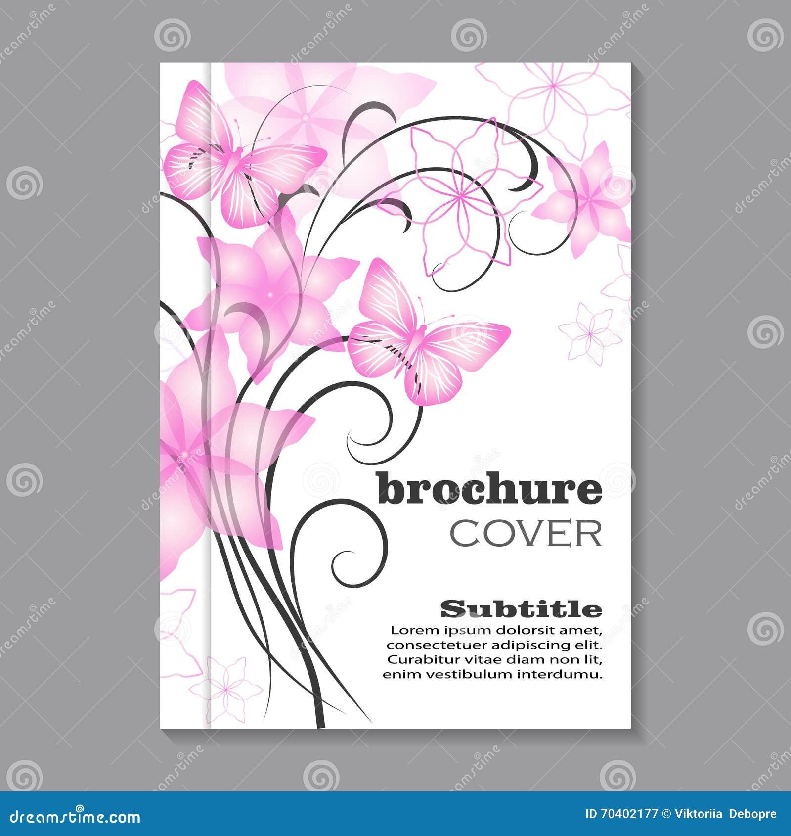 Floral Brochure Cover Design Stock Vector