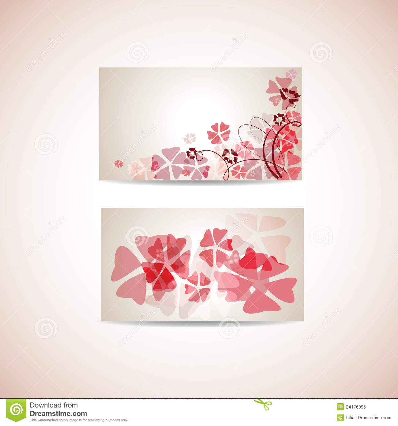 Floral business card template stock vector illustration of floral business card template flashek