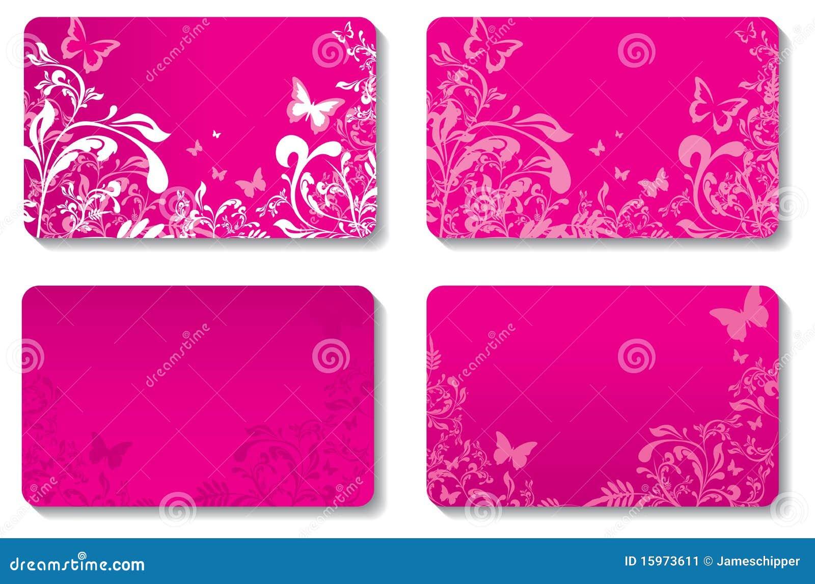Floral business cards stock vector. Illustration of design - 15973611