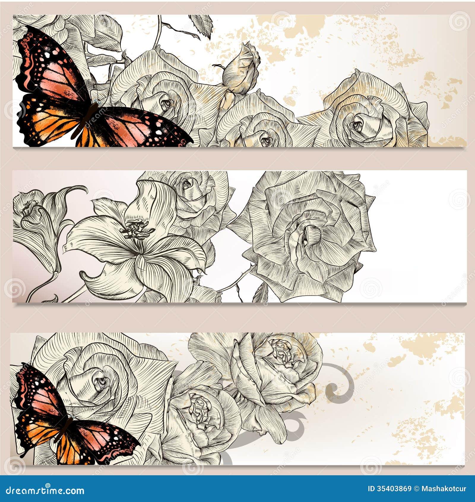 Floral Business Cards Set For Design Stock Vector - Illustration of ...