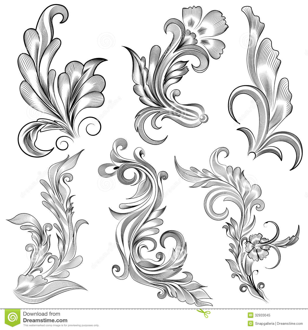 Floral Calligraphic Design Stock Vector Illustration Of Decoration