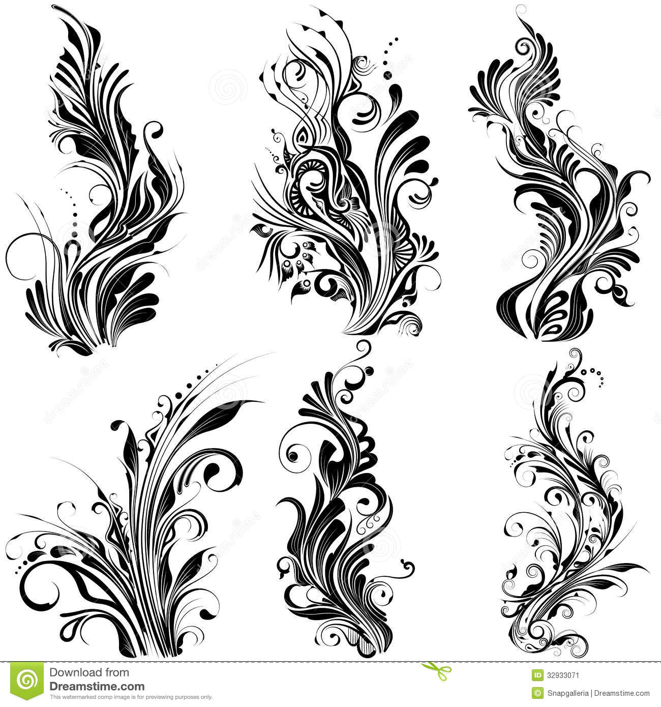 Floral calligraphic design stock vector image of frame