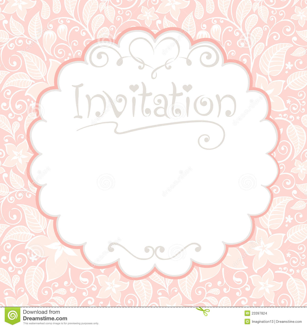 Floral Card Invitations Images Image 23397824 – Invitations Card