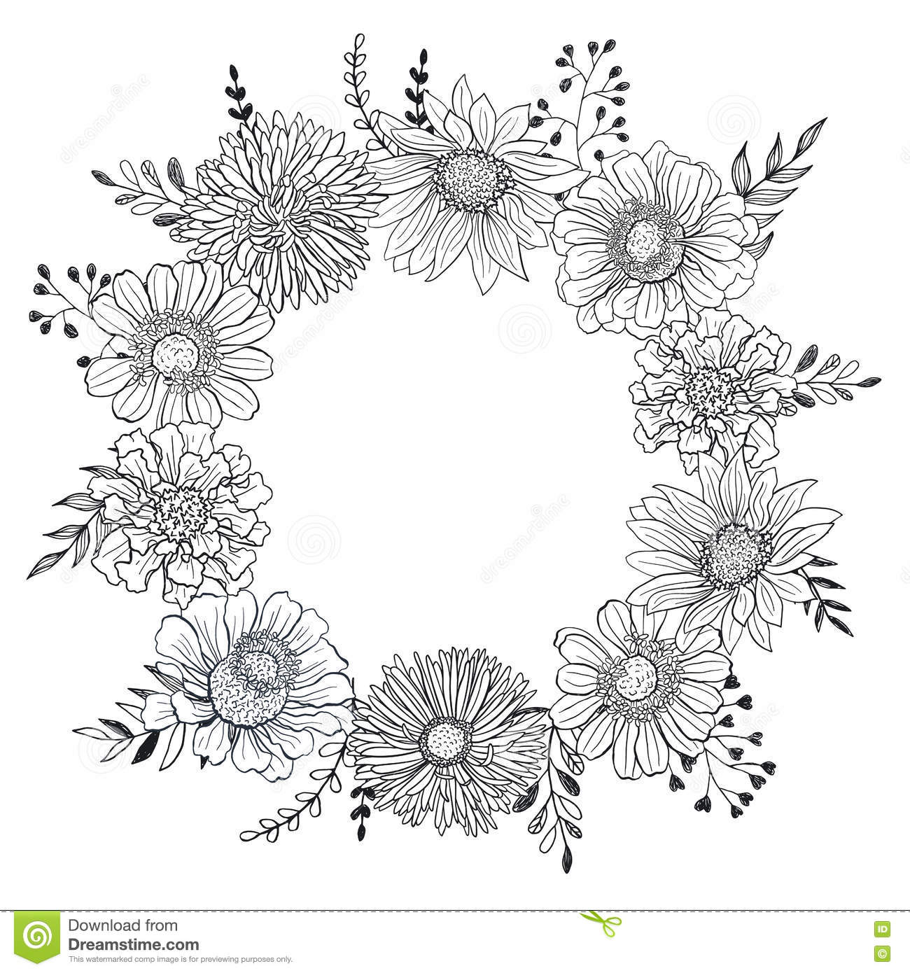 Black and white flower template gidiyedformapolitica black and white flower template mightylinksfo Image collections