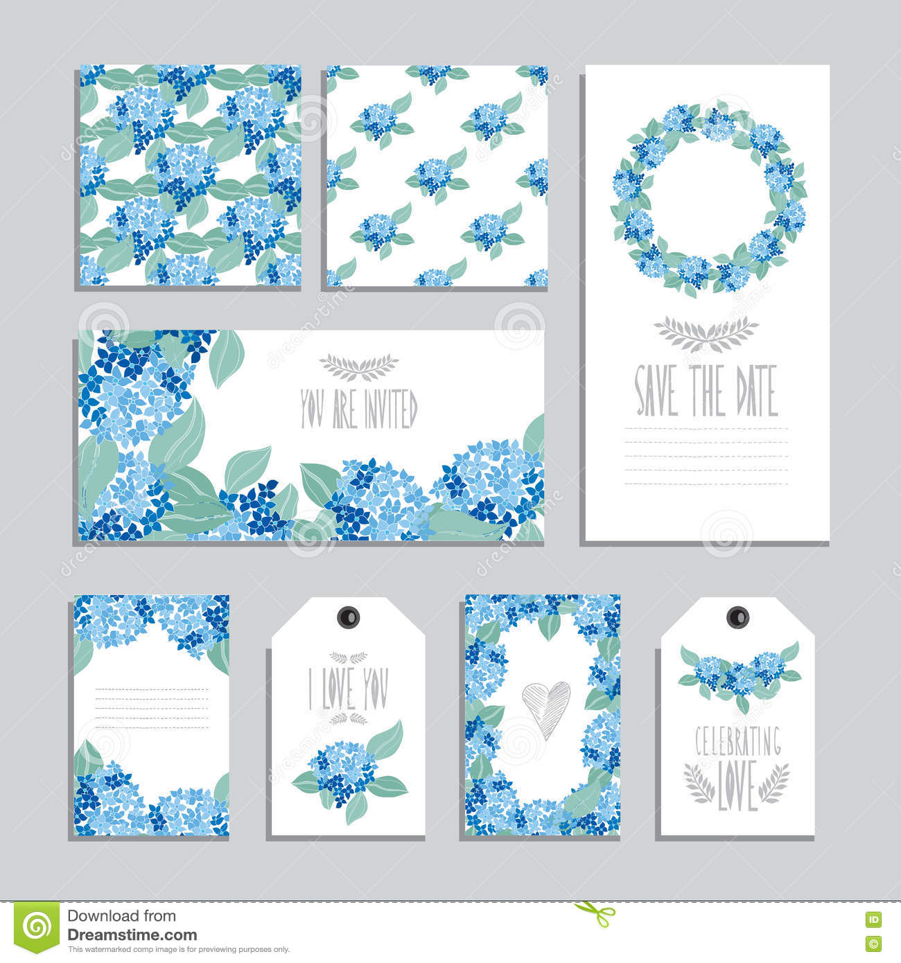 floral cards set stock vector illustration of icon clip 73533057