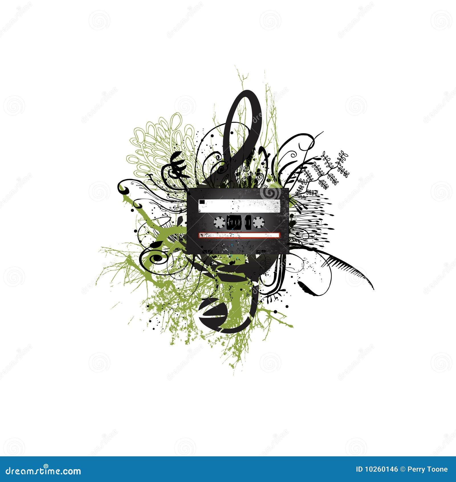 floral cassette design royalty free stock image image. Black Bedroom Furniture Sets. Home Design Ideas