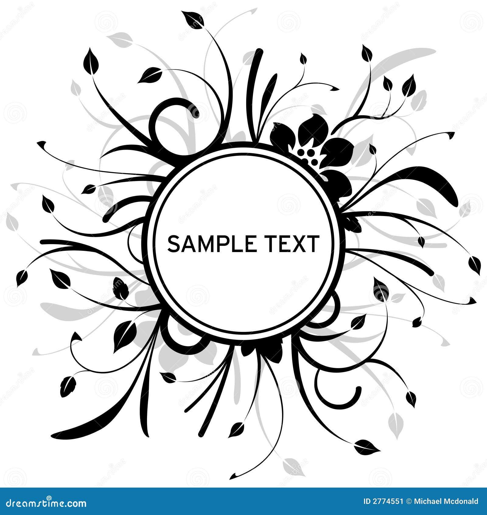Floral Circle Design Stock Image Image 2774551
