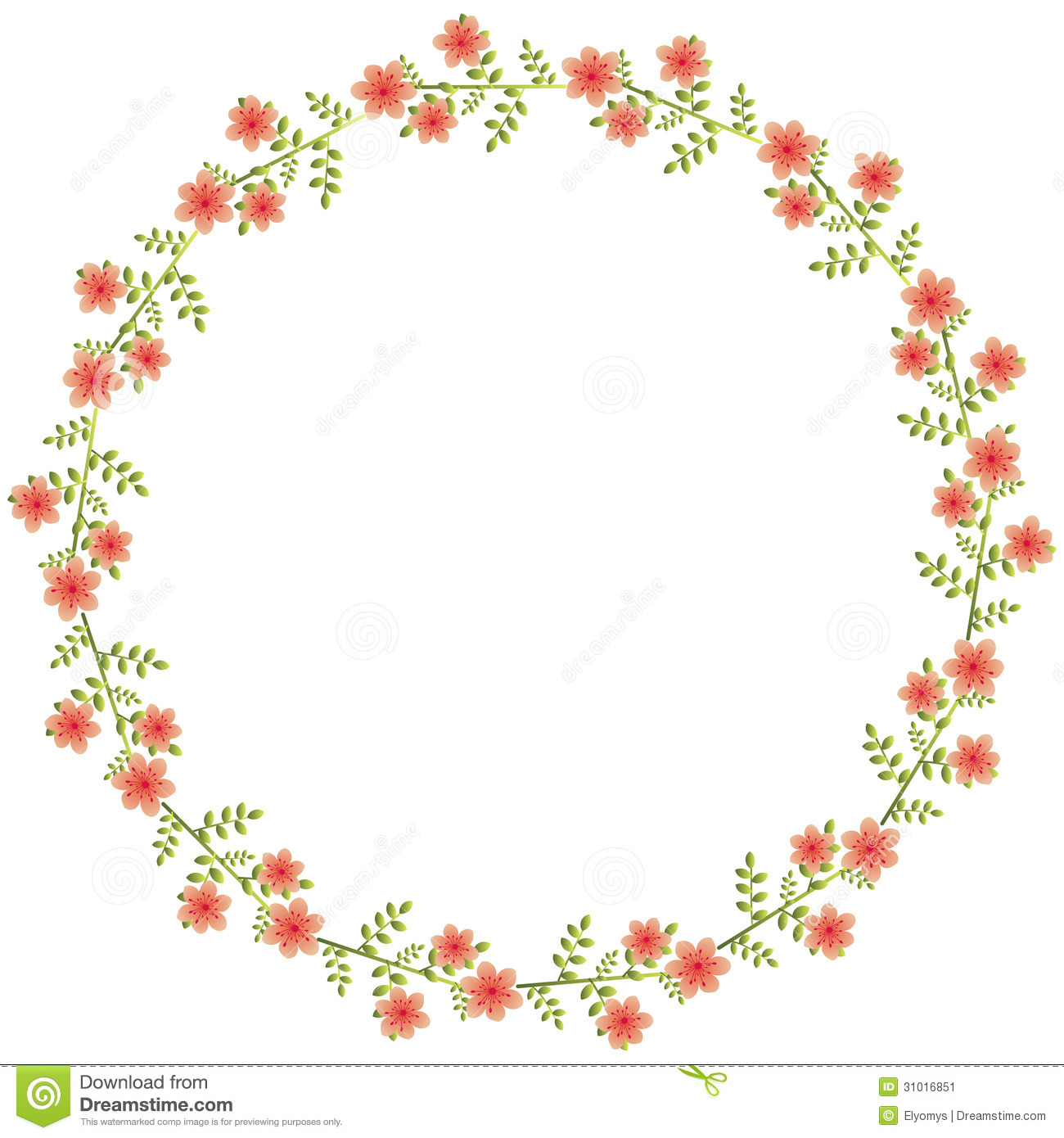 Floral design in circle stock vector image 75615991 - Floral Circle Red Flowers Leaves 31016851 Floral Circle Stock Image Image 31016851 Flower Leaf Circle