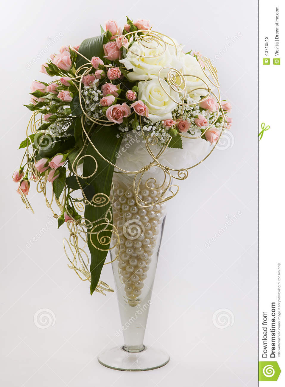 Floral Composition Stock Image Image Of Pink Flowers
