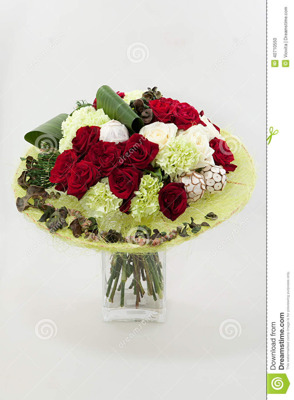 Floral composition stock photo image 40710550 for Different color roses bouquet