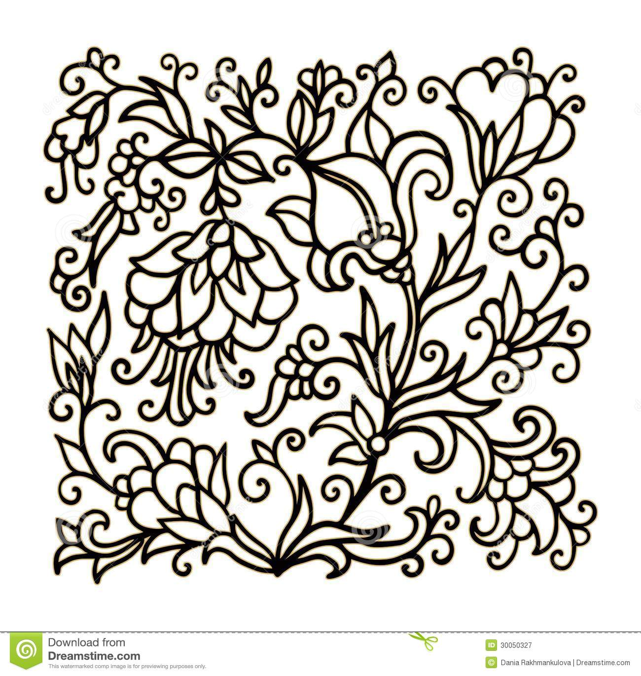 Contoured Floral Composition Stock Image