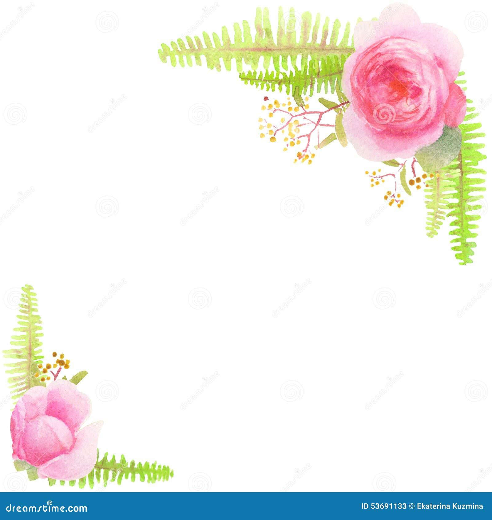 Floral Corner Design Element