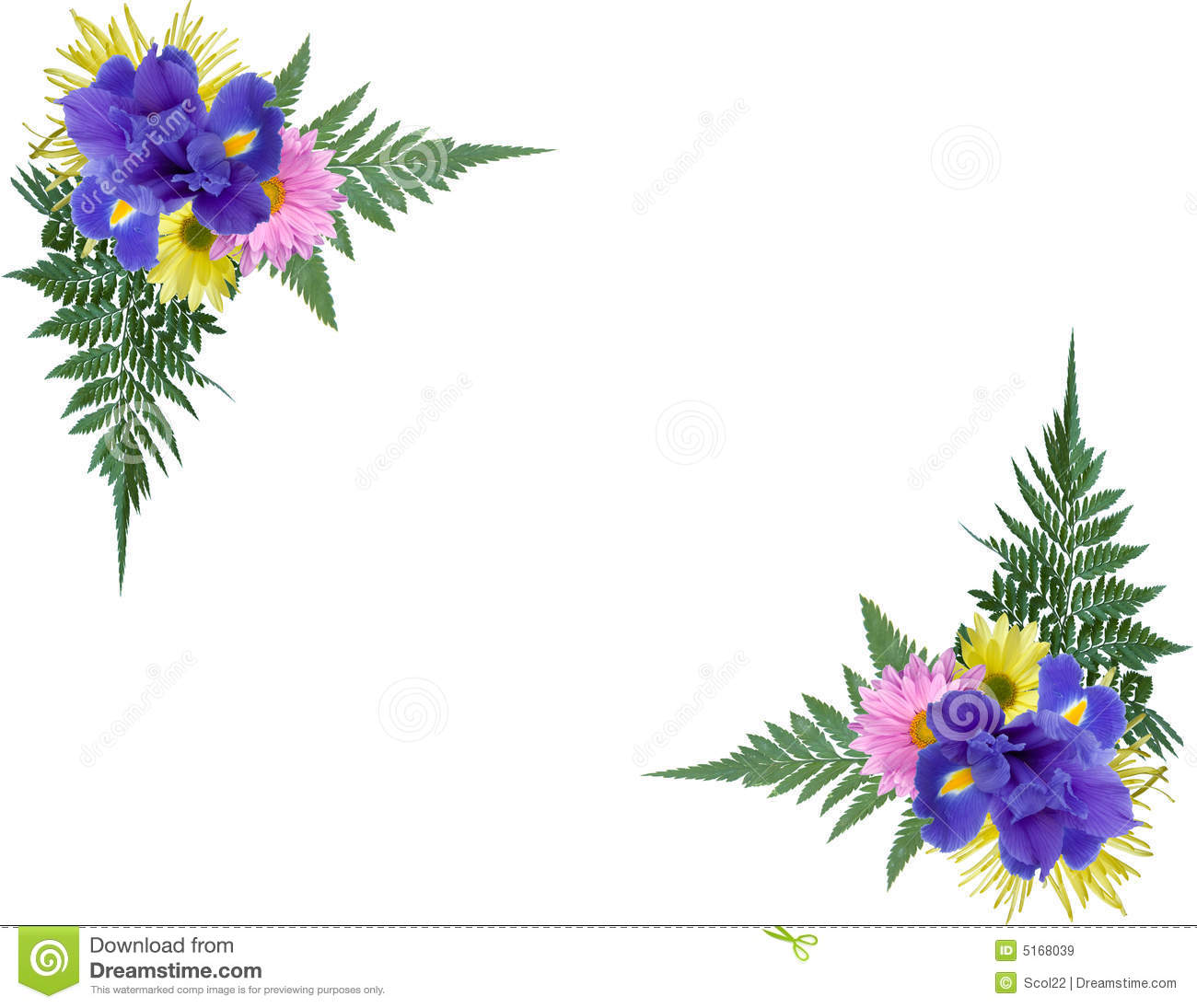 Floral Corners Royalty Free Stock Images Image 5168039