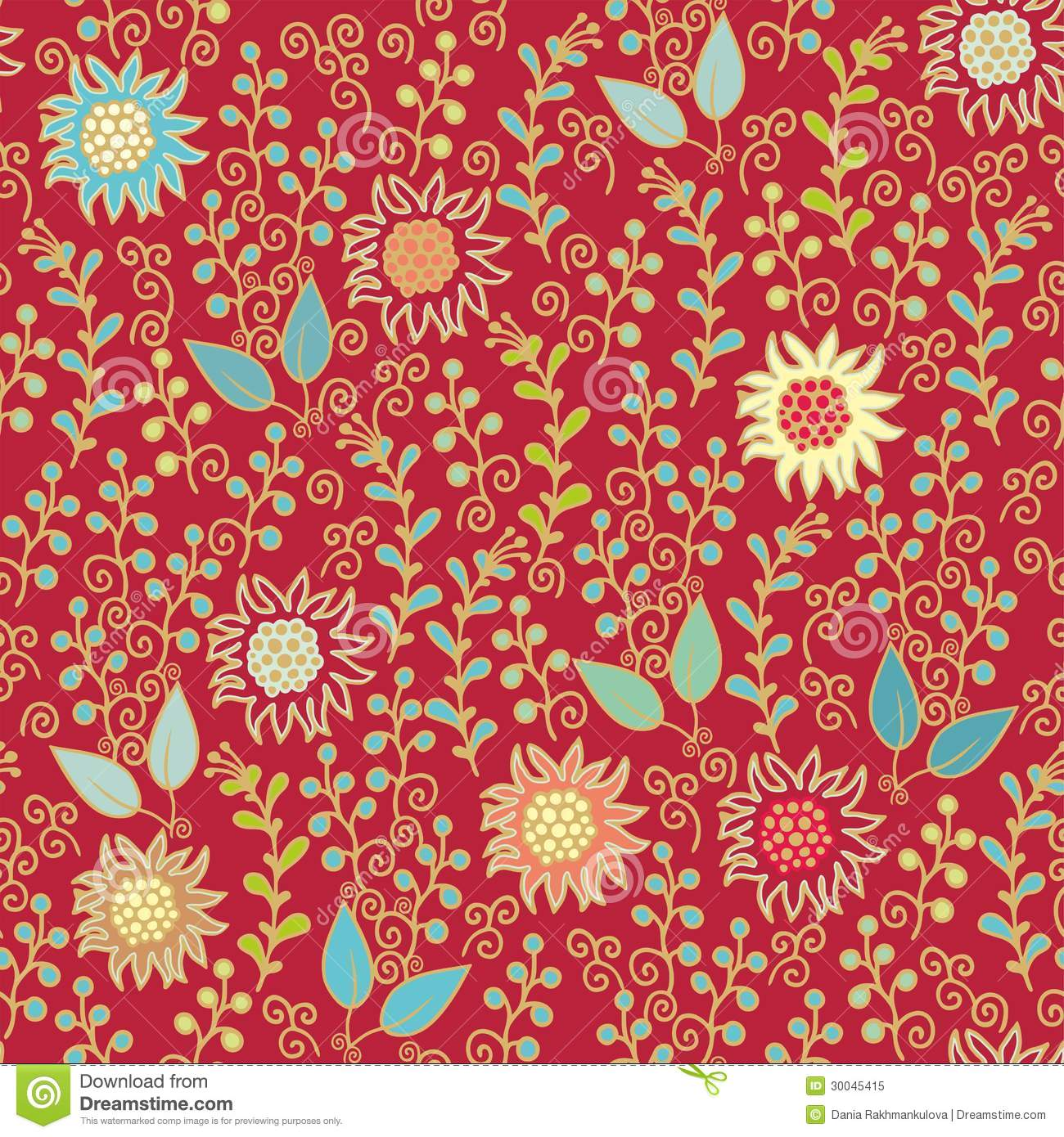 Floral decor in indian style for scrapbook paper design cards