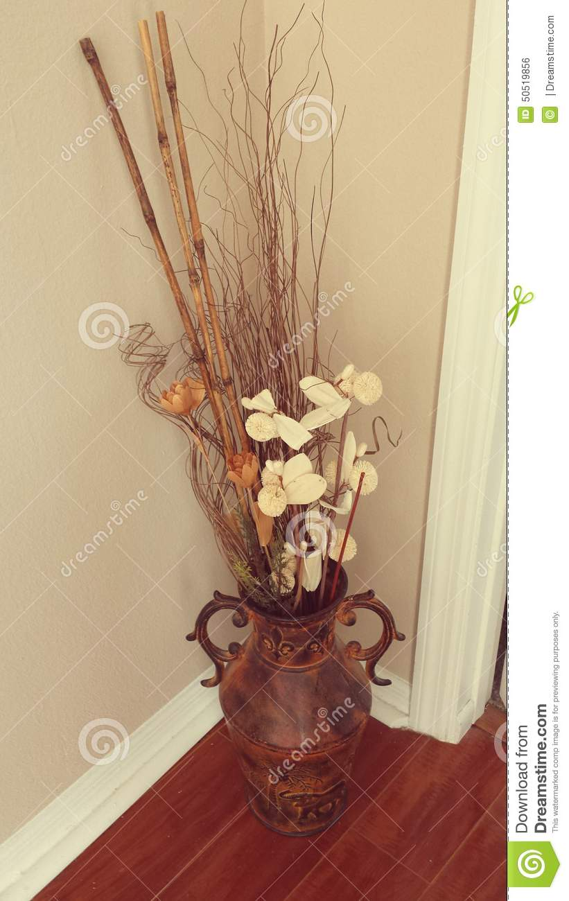 Floral decor in an urn stock photo image 50519856 for Photo decoration
