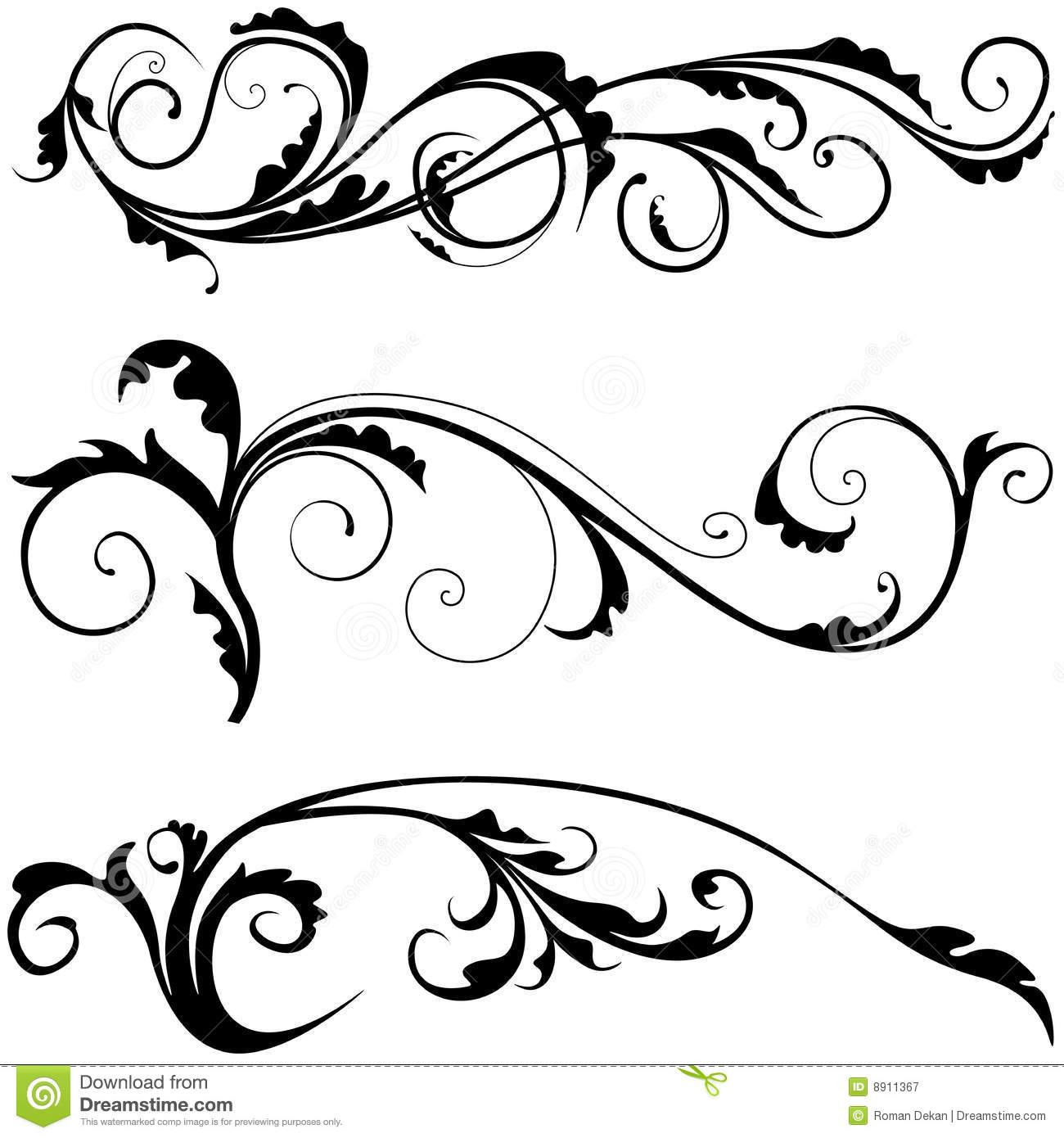 Floral decoration stock vector illustration of abstract for Greche decorative