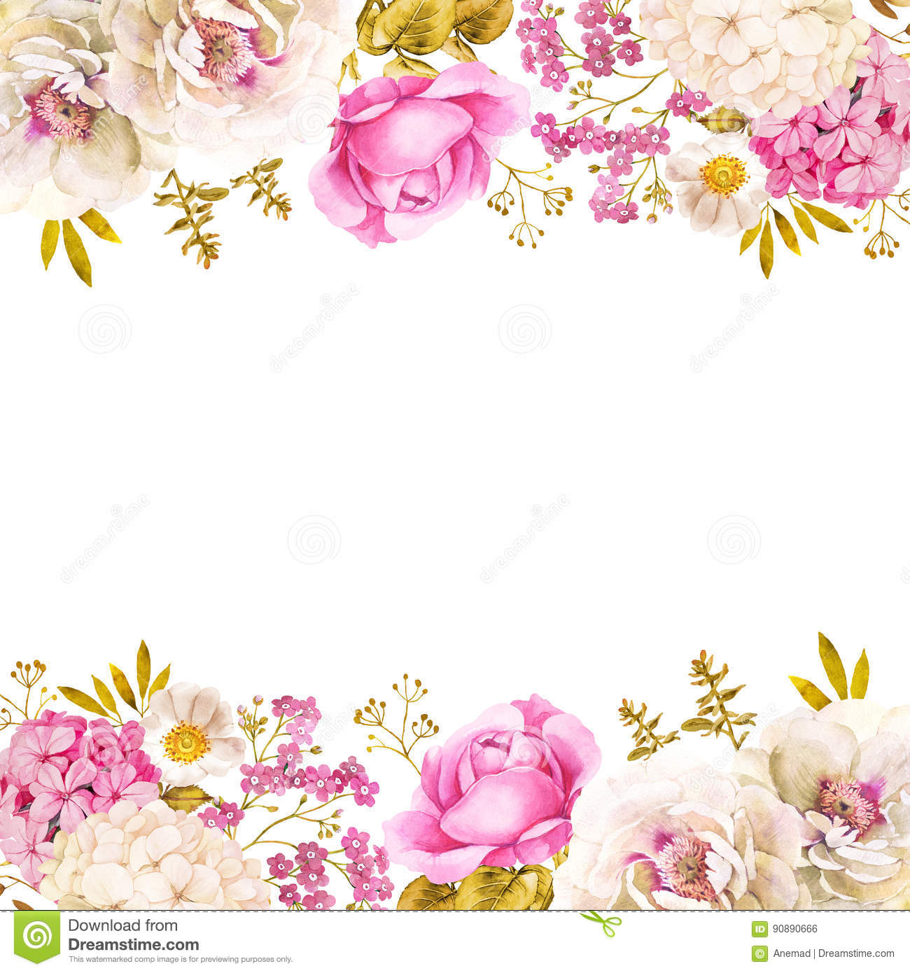 Floral Decoration Wedding Background In Pink White And