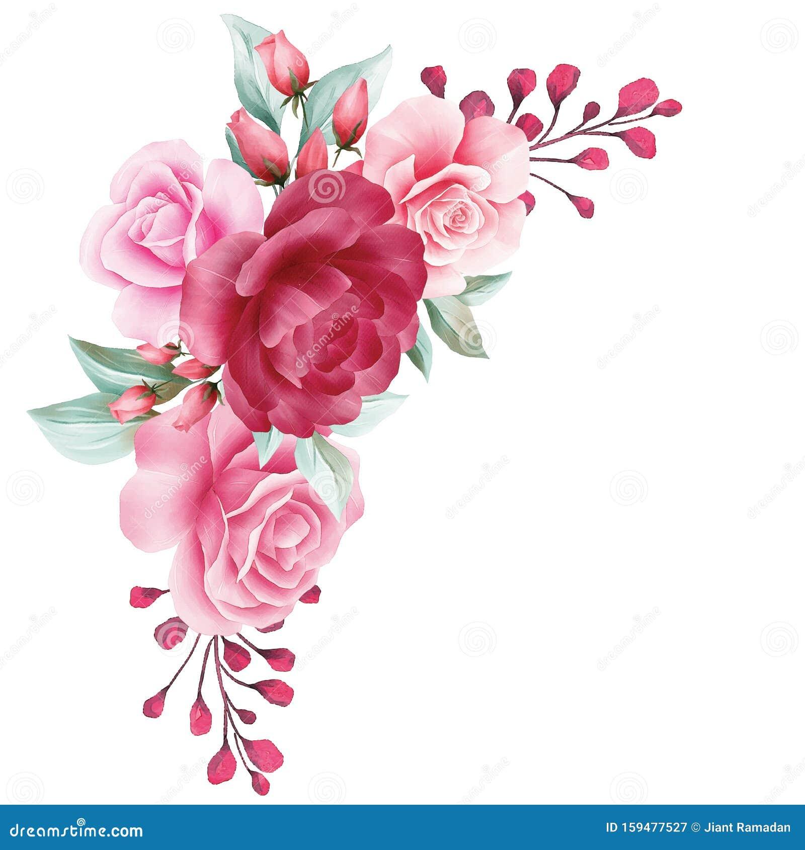 floral decoration for wedding invitation card border