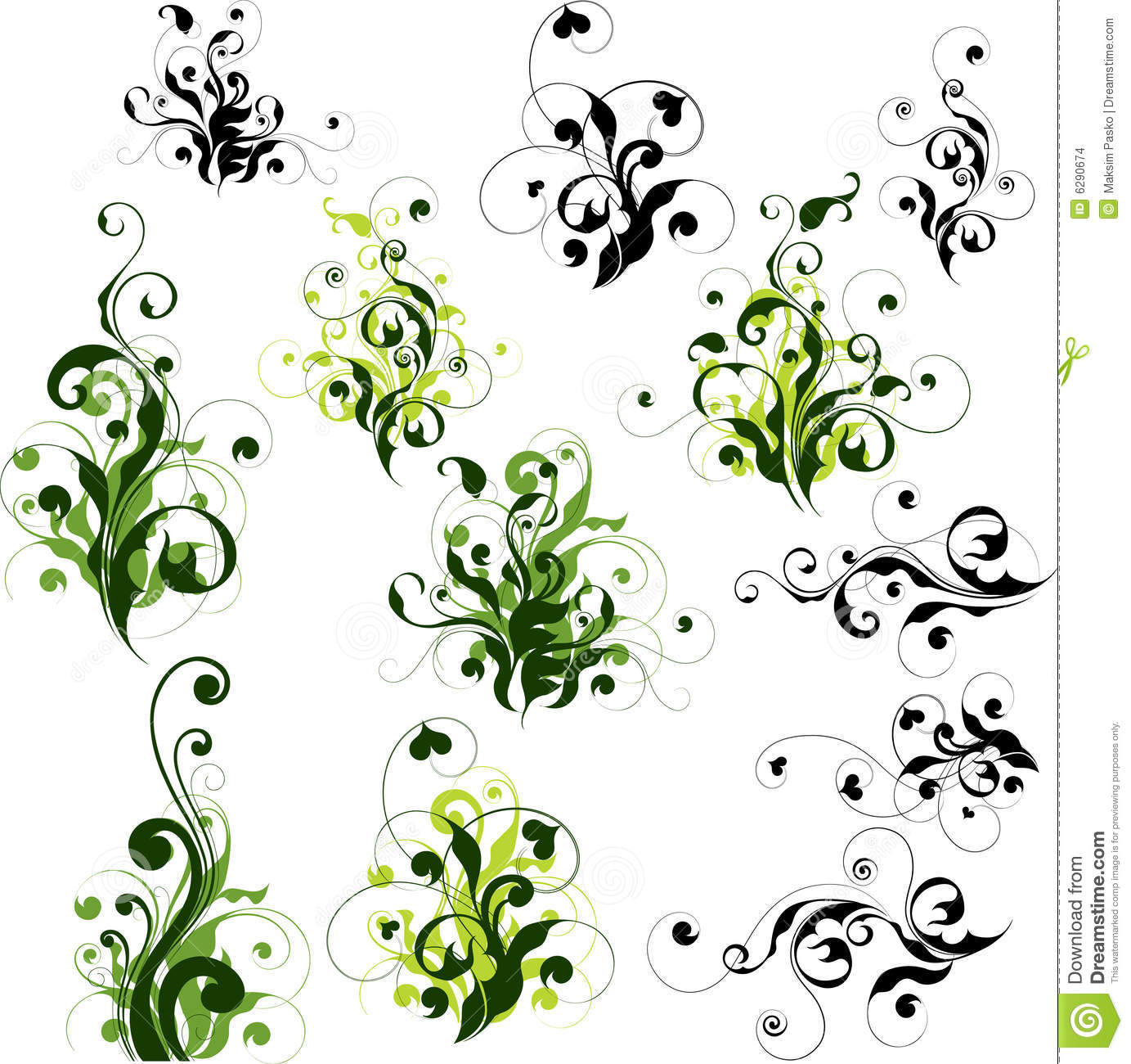 Floral Decorations floral decorations set stock images - image: 6290674