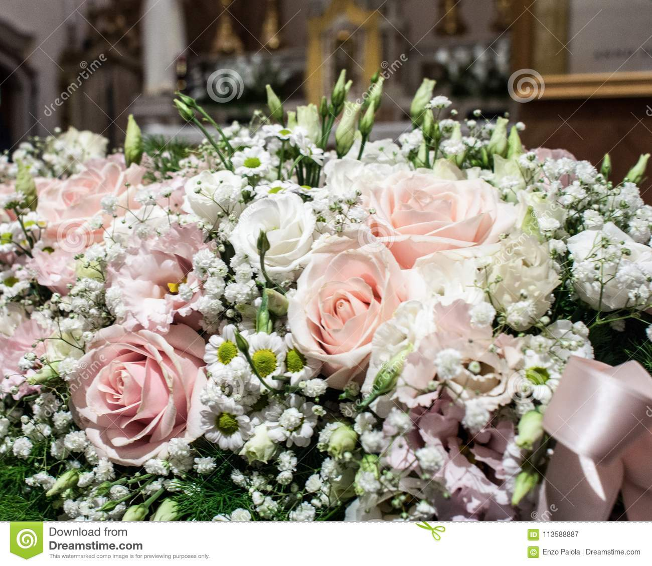 Floral Decorations At The Wedding Ceremony Stock Image
