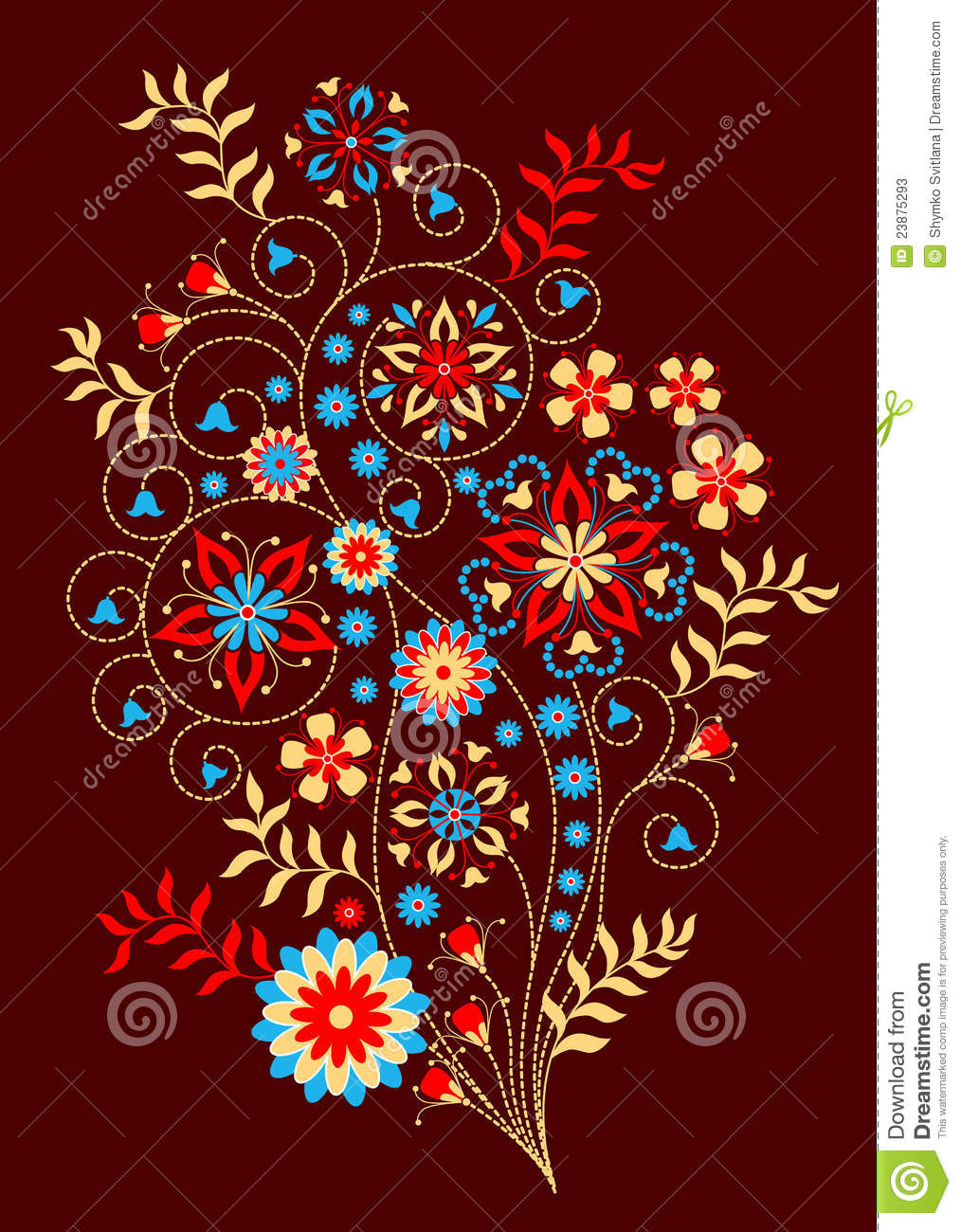 Download Floral decorative pattern stock vector. Illustration of bluebell - 23875293